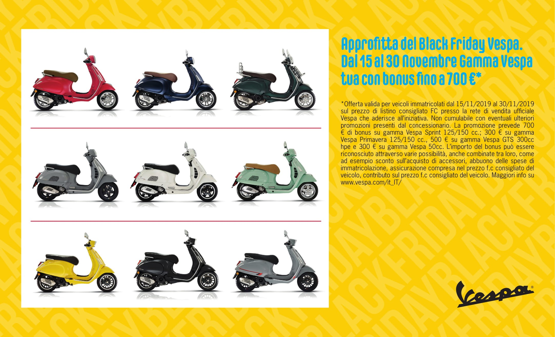 BLACK FRIDAY DI VESPA!